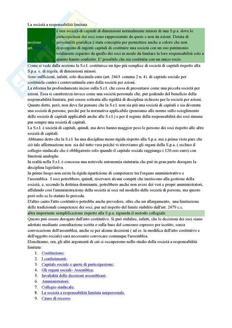 diritto commerciale dispensa diritto commerciale la societa a responsabilit 224 limitata