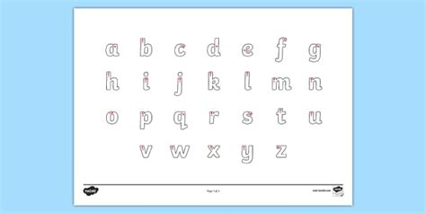 letter formation alphabet handwriting sheet lowercase