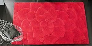 tapis rouge salon et pour toutes les pieces With tapis rouge de salon