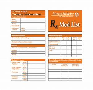 medication card template 13 free printable sample With med cards template