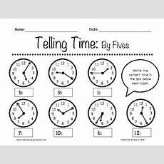 Telling Time By Fives Worksheets 1st3rd Grade By In The
