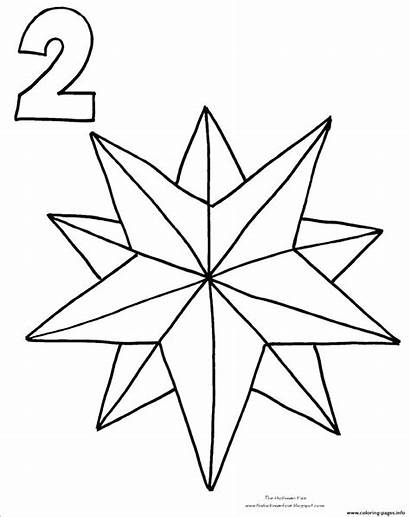 Coloring Christmas Star Pages Countdown Printable Drawing