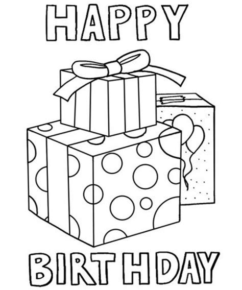 kids coloring pages happy birthday printable
