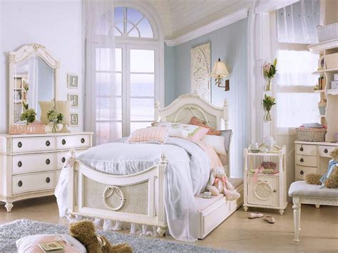 shabby chic blue white furniture for shabby chic bedroom interior decorating ideas with single bed also soft blue