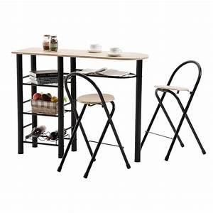Bartisch Mit Stühlen : bartisch style mit 2 st hlen sonoma schwarz mobilia24 ~ Indierocktalk.com Haus und Dekorationen
