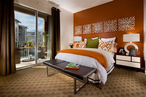 Bedroom Burnt Orange Wallpaper by Bedroom With Wallpaper Accent Wall That You Must