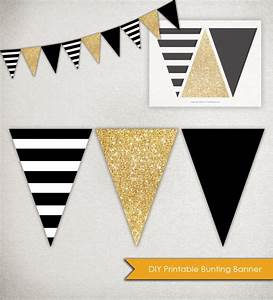 instant download sparkle banner printable triangle With triangle letter banner