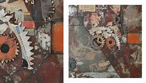 Tableau Metal Design : tableau metal deco bricolage maison et d coration ~ Teatrodelosmanantiales.com Idées de Décoration