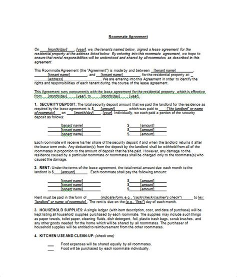 agreement templates   word  documents