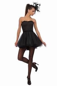 petite robe noire bustier tutu noir pour soiree piece With robe noir bustier