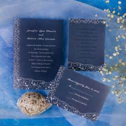 blue wedding invitations printable blue floral inexpensive wedding invites ewi130 as low as 0 94
