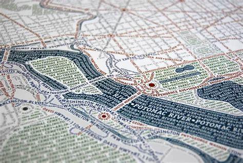 more typographic city maps washington dc and new york andy woodruff