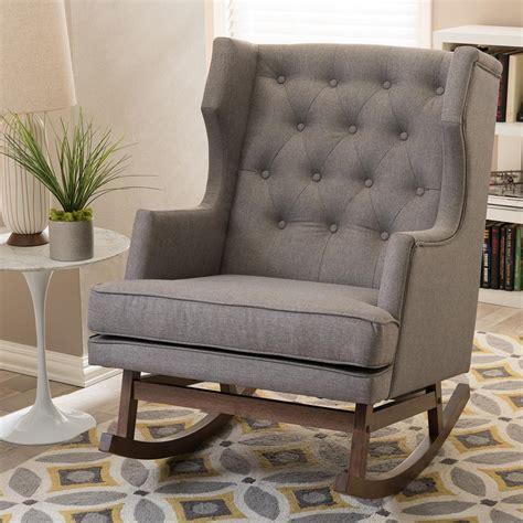 baxton studio iona mid century gray fabric upholstered
