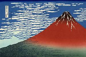 Fuji, Mountains in clear Weather (Red Fuji), 1831 ...