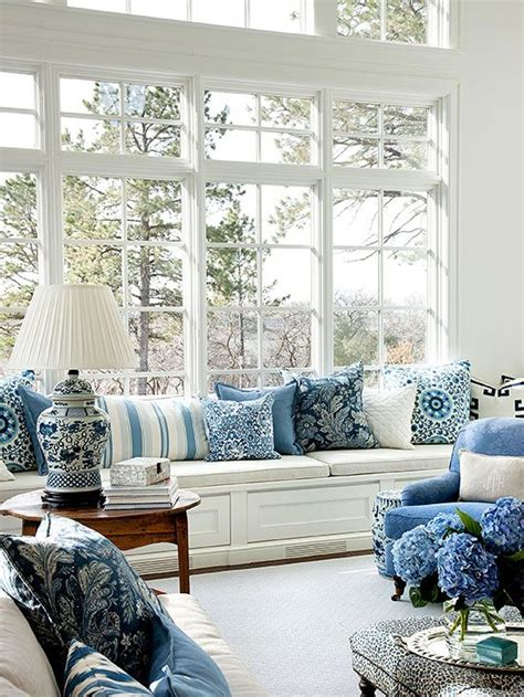 Living Room With Blue Decor by Navy Blue And White Chinoiserie Chic My Cushion