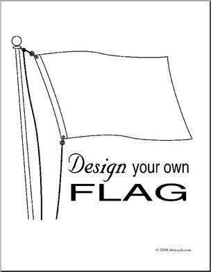 design your own flag design your own clipart page 1 abcteach