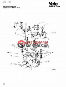 Yale Electric For Model Mpw 045 D  A802  Parts Manual