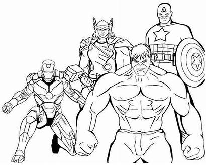 Superheroes Coloring Avengers Pages Drawing Printable