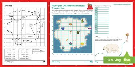 four figure grid reference treasure hunt worksheet