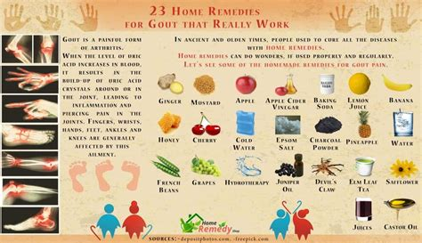 home remedies  gout   work home remedies