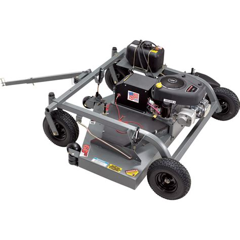 swisher finish cut tow behind trail mower with electric