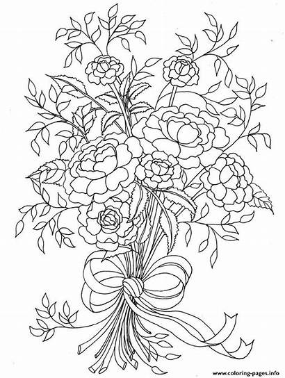 Coloring Pages Flowers Mothers Flower Printable Mother