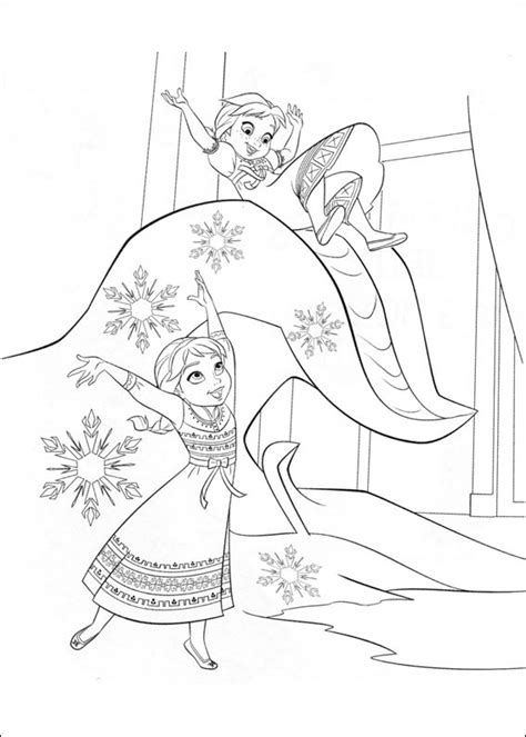 elsa  anna playing coloring page  printable coloring pages  kids