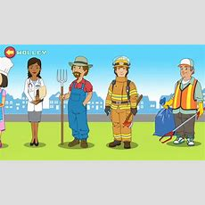 Kids Learn New Words About Community Helpers Such As Doctor & Firefighter  Educational Kids