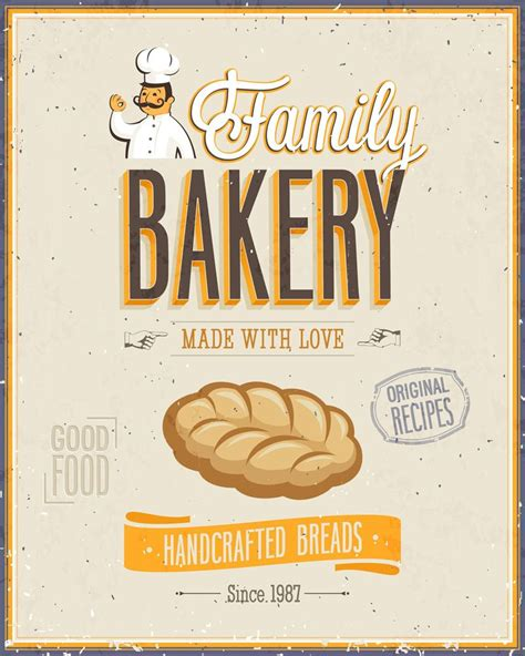 bakery bread metal propaganda wall sign retro art
