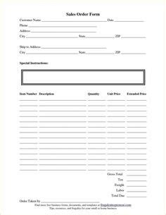 simple order form template word images order