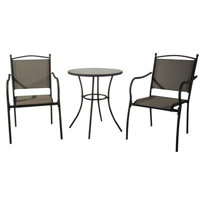 target home savoy 3 metal patio bistro furniture