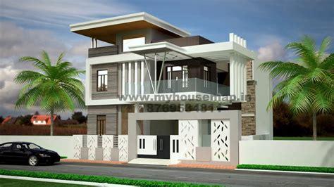 Exterior  Front Elevation Design  House Map  Building