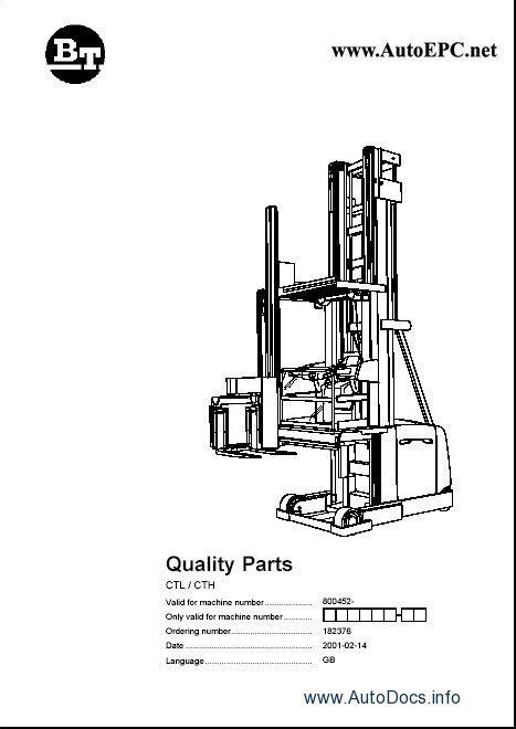 Toyota Lift Truck spare parts catalogue, parts manuals