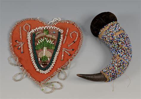 lot   native american beaded items