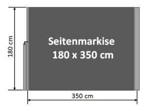Seitenmarkise 180 X 350 by Seitenmarkise 180 X 350 Cm H 246 He 180 Cm L 228 Nge 350 Cm