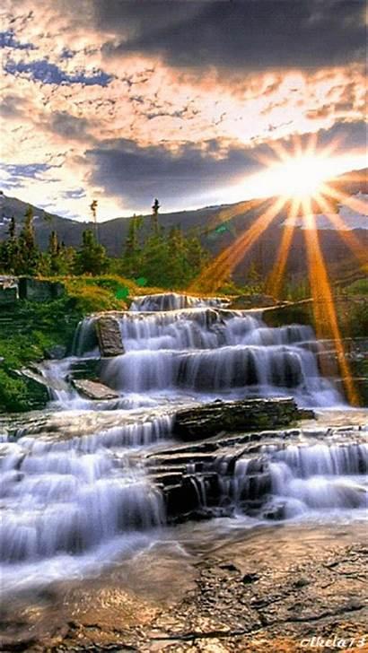 Waterfall Waterfalls Clip Water Landscape Flowing Moving