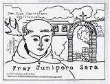 Serra Coloring Junipero Catholic Father Missions California Juan Result Capistrano sketch template
