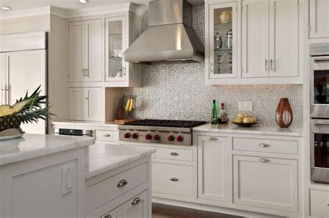 Silver Iridescent Tile Backsplash-transitional-kitchen