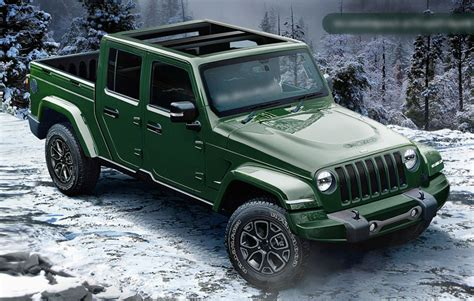jeep wrangler pickup release date price spy shots specs
