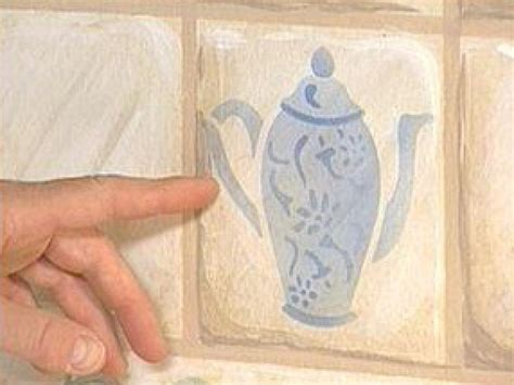 How to Paint Tile Backsplash and Stenciling   HGTV