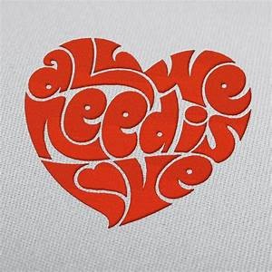 Design We Love : the beatles quote all we need is love embroidery design ~ A.2002-acura-tl-radio.info Haus und Dekorationen