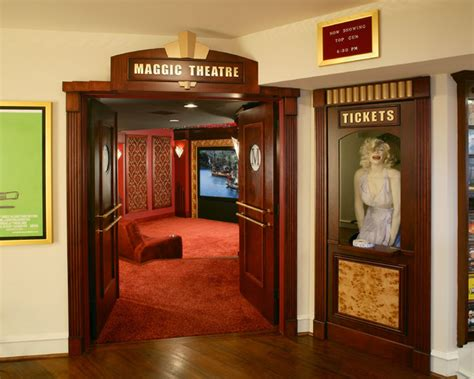 marilyn monroe theater eclectic home theater