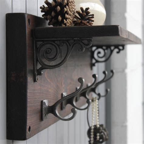 shelf with hooks reclaimed wood coat hook shelf by m 246 a design