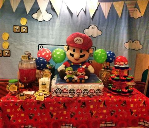 Super Mario Themed Baby Shower Party Ideas Pinterest