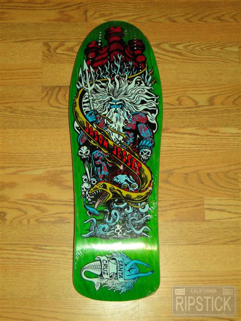 jason jessee mermaid deck 2003 santa jason jessee neptune 2 nos skateboard deck