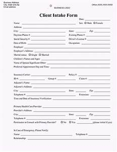 Counseling intake form template template update234com for Psychotherapy intake form template