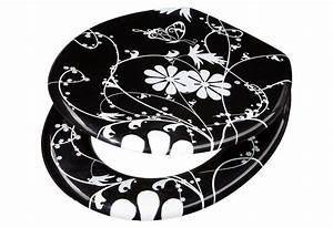 Wc Sitz Schwarz : adob wc sitz white flower mit verstellbaren metallscharnieren online kaufen otto ~ Watch28wear.com Haus und Dekorationen
