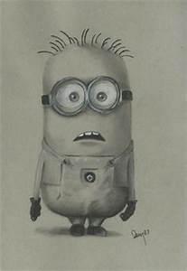 Evil minion drawing, minion print,11x14, minion wall art ...