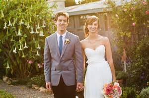 a handmade garden wedding hallie luke green wedding