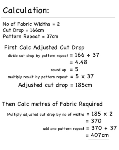 Lined Roman Blind, Calculate fabric Quantities